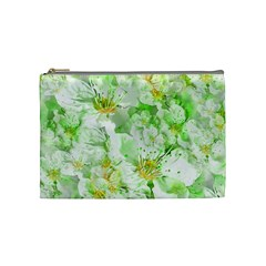 Light Floral Collage  Cosmetic Bag (medium)  by dflcprints