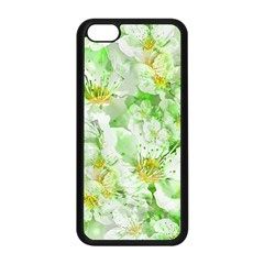 Light Floral Collage  Apple Iphone 5c Seamless Case (black) by dflcprints