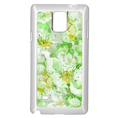 Light Floral Collage  Samsung Galaxy Note 4 Case (white) by dflcprints