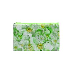 Light Floral Collage  Cosmetic Bag (xs) by dflcprints