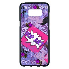 Purlpe Retro Pop Samsung Galaxy S8 Plus Black Seamless Case by snowwhitegirl
