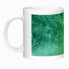 Green Ocean Splash Night Luminous Mugs by snowwhitegirl