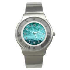 Green Ocean Splash Stainless Steel Watch by snowwhitegirl