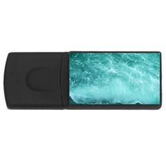 Green Ocean Splash Rectangular Usb Flash Drive by snowwhitegirl