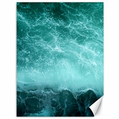 Green Ocean Splash Canvas 36  X 48   by snowwhitegirl