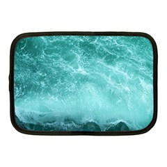Green Ocean Splash Netbook Case (medium)  by snowwhitegirl