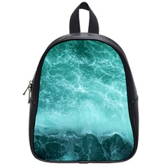 Green Ocean Splash School Bag (small) by snowwhitegirl