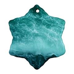 Green Ocean Splash Ornament (snowflake) by snowwhitegirl
