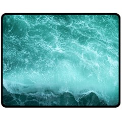 Green Ocean Splash Double Sided Fleece Blanket (medium)  by snowwhitegirl