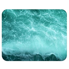 Green Ocean Splash Double Sided Flano Blanket (medium)  by snowwhitegirl