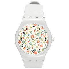 Abstract 1296713 960 720 Round Plastic Sport Watch (m)