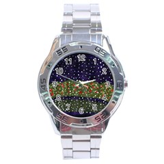 Snowy Roses Stainless Steel Analogue Watch by snowwhitegirl