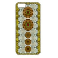 Spring In Mind And Flowers In Soul Be Happy Apple Seamless Iphone 5 Case (clear)
