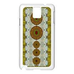 Spring In Mind And Flowers In Soul Be Happy Samsung Galaxy Note 3 N9005 Case (white) by pepitasart