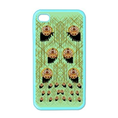 Lady Panda With Hat And Bat In The Sunshine Apple Iphone 4 Case (color) by pepitasart