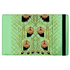 Lady Panda With Hat And Bat In The Sunshine Apple Ipad 3/4 Flip Case by pepitasart