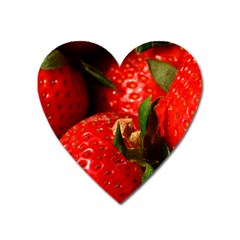 Red Strawberries Heart Magnet by snowwhitegirl