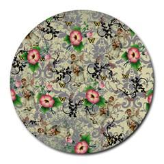 Angel Floral Round Mousepads by snowwhitegirl