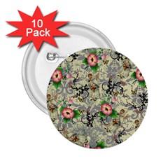 Angel Floral 2 25  Buttons (10 Pack)  by snowwhitegirl
