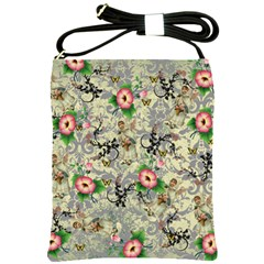 Angel Floral Shoulder Sling Bags by snowwhitegirl