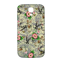 Angel Floral Samsung Galaxy S4 I9500/i9505  Hardshell Back Case by snowwhitegirl