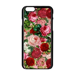 Rose Bushes Apple Iphone 6/6s Black Enamel Case by snowwhitegirl