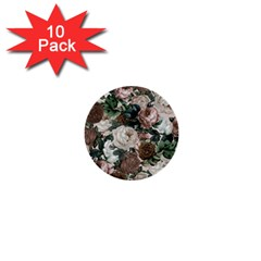Rose Bushes Brown 1  Mini Buttons (10 Pack)  by snowwhitegirl