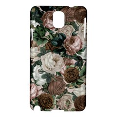 Rose Bushes Brown Samsung Galaxy Note 3 N9005 Hardshell Case by snowwhitegirl
