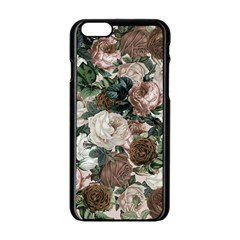 Rose Bushes Brown Apple Iphone 6/6s Black Enamel Case by snowwhitegirl