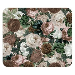 Rose Bushes Brown Double Sided Flano Blanket (small)  by snowwhitegirl