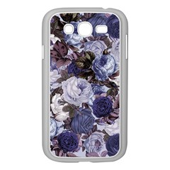 Rose Bushes Blue Samsung Galaxy Grand Duos I9082 Case (white) by snowwhitegirl