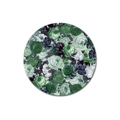 Rose Bushes Green Magnet 3  (round) by snowwhitegirl