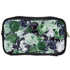 Rose Bushes Green Toiletries Bags 2 Side by snowwhitegirl