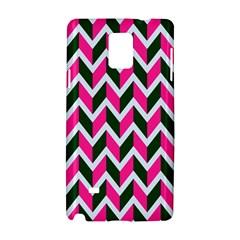 Chevron Pink Green Retro Samsung Galaxy Note 4 Hardshell Case by snowwhitegirl