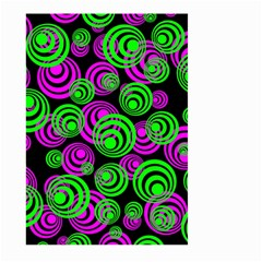 Neon Green And Pink Circles Large Garden Flag (two Sides) by PodArtist