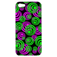 Neon Green And Pink Circles Apple Iphone 5 Hardshell Case by PodArtist