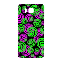 Neon Green And Pink Circles Samsung Galaxy Alpha Hardshell Back Case by PodArtist