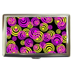 Neon Yellow And Hot Pink Circles Cigarette Money Cases by PodArtist