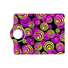 Neon Yellow And Hot Pink Circles Kindle Fire Hd (2013) Flip 360 Case