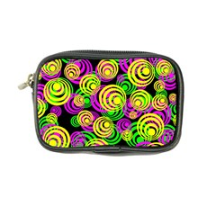 Bright Yellow Pink And Green Neon Circles Coin Purse by PodArtist