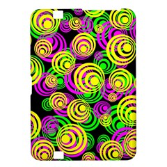 Bright Yellow Pink And Green Neon Circles Kindle Fire Hd 8 9  by PodArtist