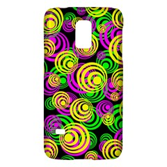 Bright Yellow Pink And Green Neon Circles Galaxy S5 Mini by PodArtist