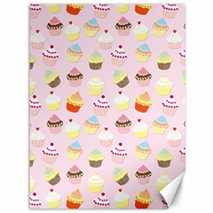 Baby Pink Valentines Cup Cakes Canvas 36  X 48   by PodArtist