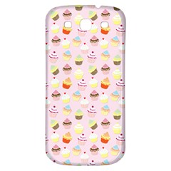 Baby Pink Valentines Cup Cakes Samsung Galaxy S3 S Iii Classic Hardshell Back Case by PodArtist