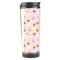 Baby Pink Valentines Cup Cakes Travel Tumbler by PodArtist