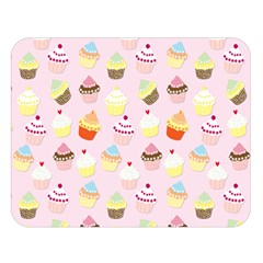 Baby Pink Valentines Cup Cakes Double Sided Flano Blanket (large)  by PodArtist