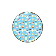 Pale Pastel Blue Cup Cakes Hat Clip Ball Marker (4 Pack)