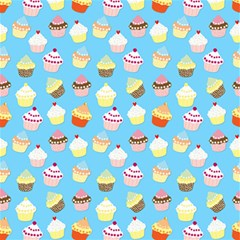 Pale Pastel Blue Cup Cakes Canvas 12  X 12   by PodArtist