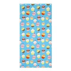 Pale Pastel Blue Cup Cakes Shower Curtain 36  X 72  (stall)  by PodArtist
