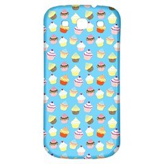 Pale Pastel Blue Cup Cakes Samsung Galaxy S3 S Iii Classic Hardshell Back Case by PodArtist